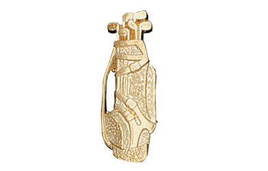 Golf Bag Metal Insert, Gold - Box of 25