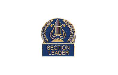 School Pin Awards Music Lyre Section Leader Enamel Pin