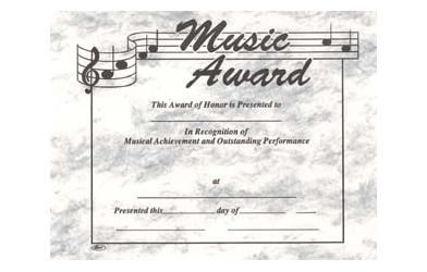 Stock Music Certificate