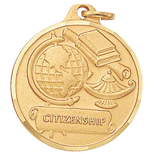 Citizenship Globe & Lamp Medal 1 1/4