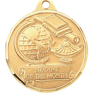 Student of the Month Globe & Lamp Medal 1 1/4