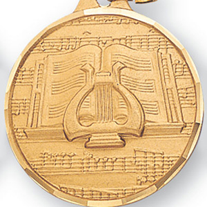 Lyre & Sheet Music Medal 1 1/4