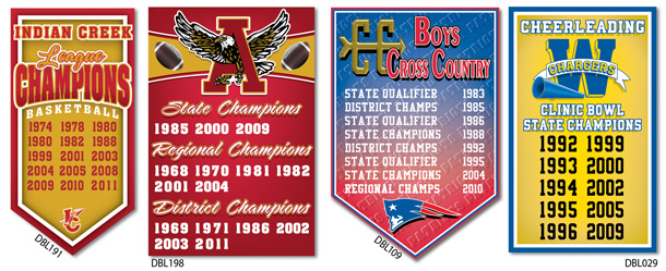 Add a Year Championship School Banners