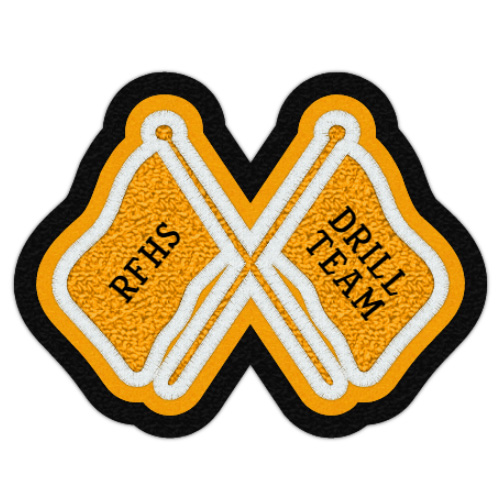 Crossed Flags Patch 3