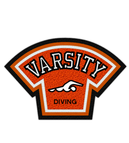 School Patch Awards Swimming Varsity Patch 5 Jacket Patches