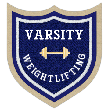 Weightlifting 4 Point Shield Shape Patch 4