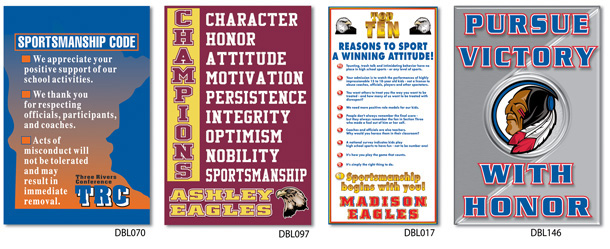 School Banners for Sportsmanship