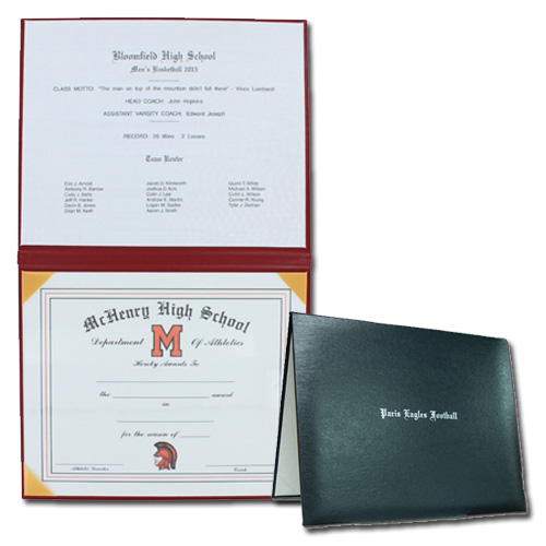 Deluxe Padded Leatherette Certificate Covers