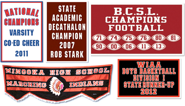 Traditional School Banners
